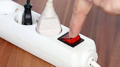 Energie sparen: Steckdosenleiste ausschalten