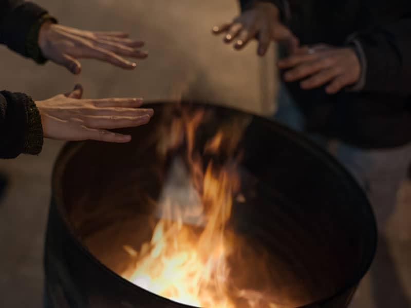 brennende Tonne