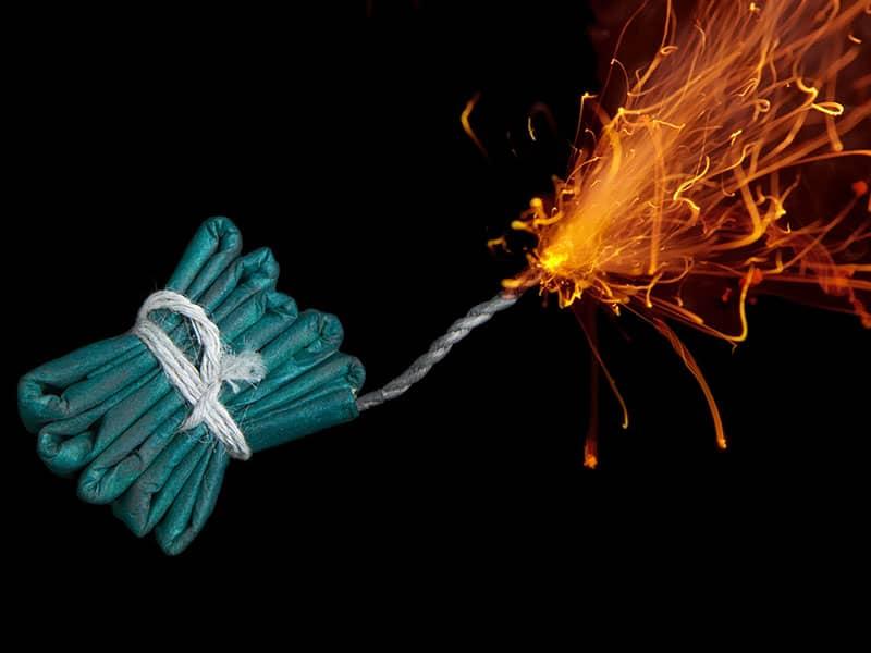 Feuerwerk Feuer Energie