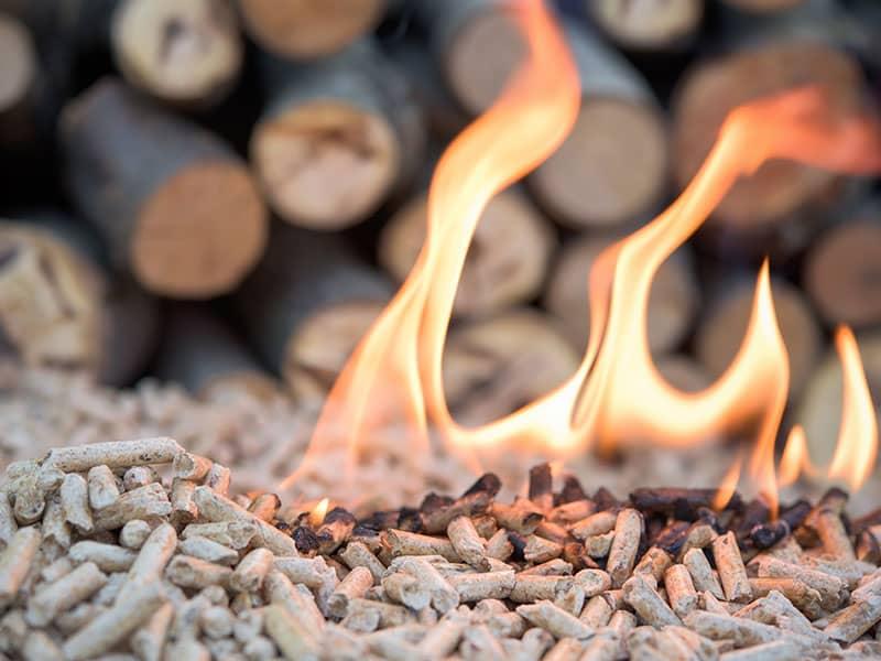 Holz Pellets Feuer