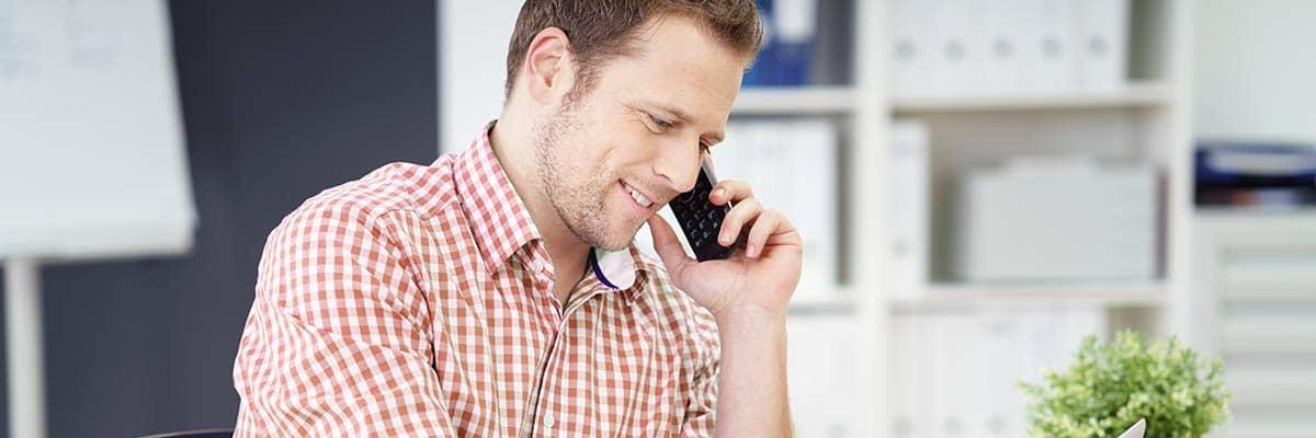 Energieberater bei der Telefonberatung