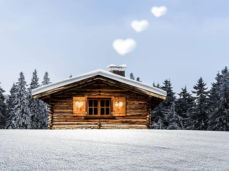 Winterhütte Wärme