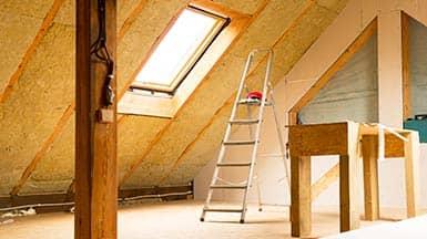 Sanierung: Dämmung eines Dachbodens