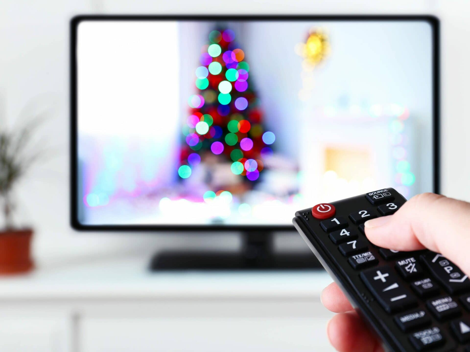 Fernseher Weihnachtsbaum